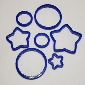 (New) 7 Pcs Cookies Cutters